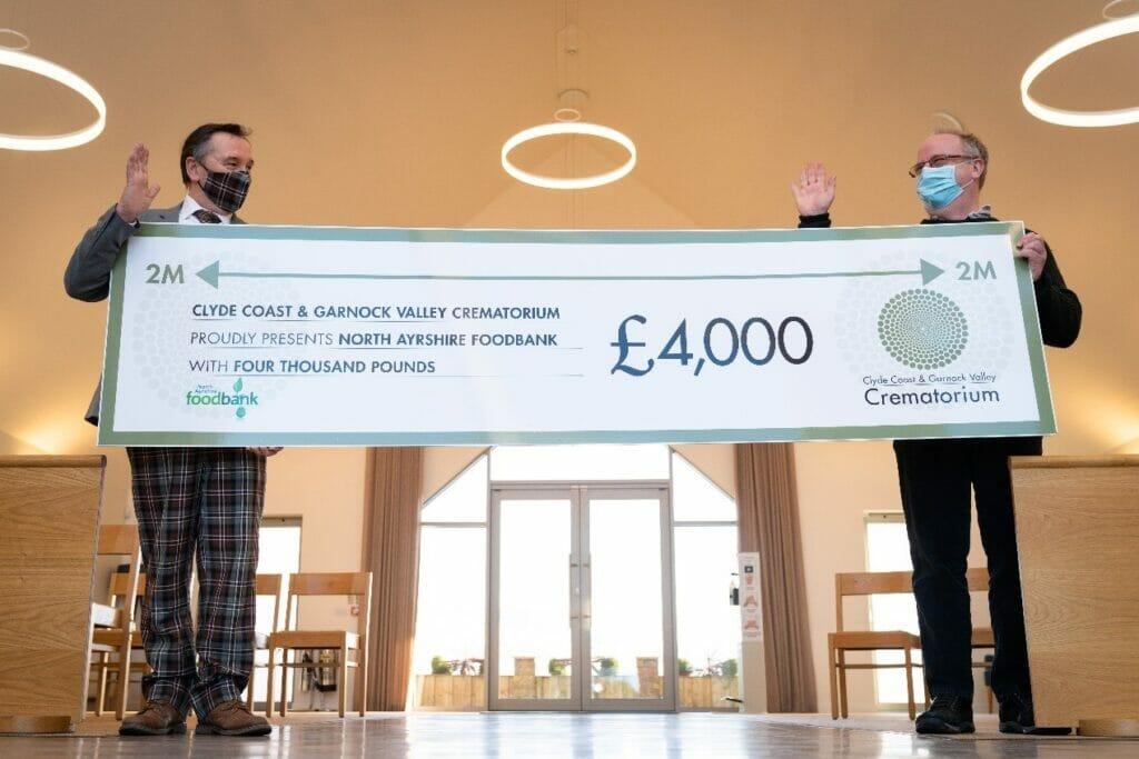 North Ayrshire Foodbank Cheque