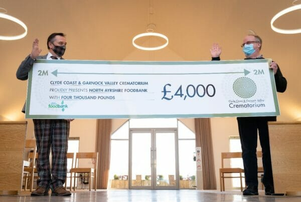 North Ayrshire Foodbank Cheque