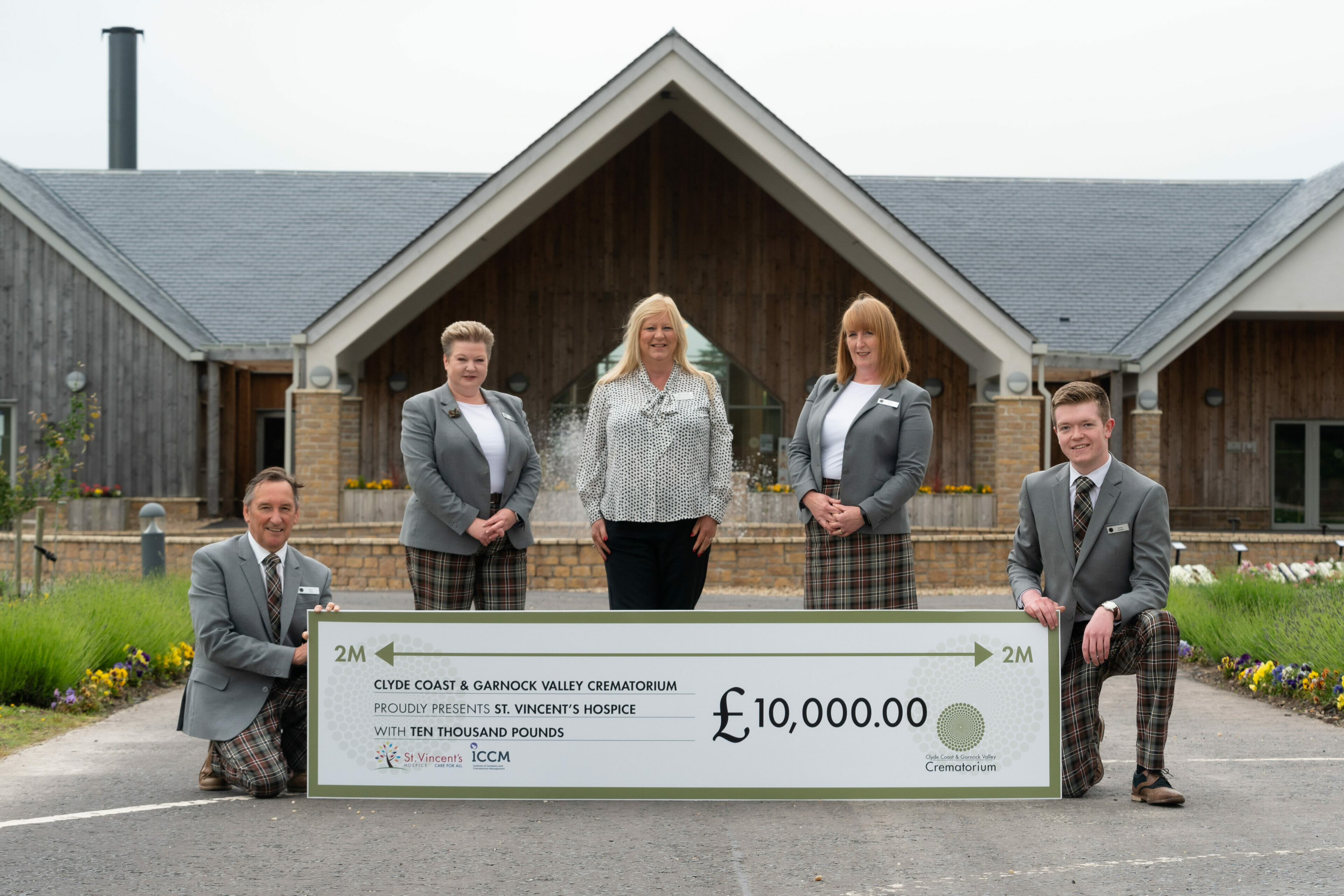 £10,000.00 St Vincent's Hospice Donation